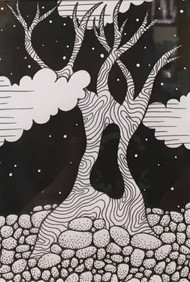 """Gemini Tree"" by Betty Horschler 7x9"