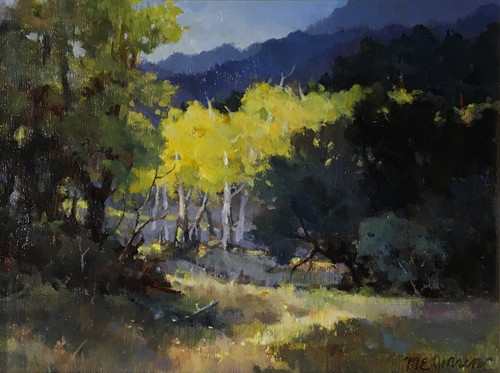"""A Bright Morning, Estes Park"" by Margaret Jensen 9x12"