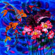 """Bejeweled Pond"" by Yelena Sidorova 30x30"
