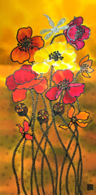 """Poppies"" by Yelena Sidorova 12x24"