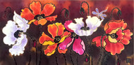 'Red and White Poppies' by Yelena Sidorova,  Gallery wrap.