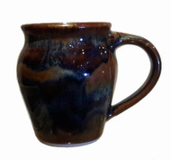 This is a 14oz. small round mug in GOLDSTONE from Cascadia Stoneware. Cascadia Stoneware is designed for everyday use.  Follow basic pottery care guidelines to ensure many years of use with stoneware pottery.