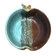 "The 6"" Apple Bowl OCEAN TIDE glaze great snack dish that's dishwasher, microwave and oven safe. Due to the popularity of these pieces, please call Earthwood Artisans to purchase. (970) 586-2151"