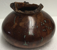 Vase — Cherry Burl with Turquoise Inlay by Jerry Crowe