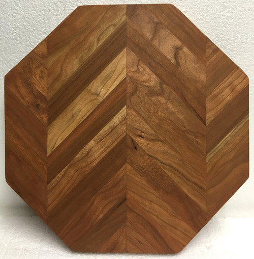 Octagonal Chevron Cutting/Serving Board by Jamie Doubleday