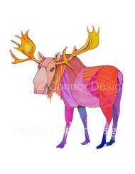 """Pink Moose Big Caboose"" by Brooke Connor"