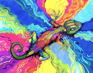 """""""Psycho Gecko"""" by Brooke Connor"""