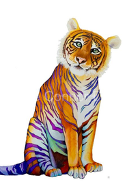 """Rainbow Tiger"" by Brooke Connor"