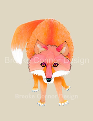 """Red-fox"" by Brooke Connor"