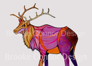 """Bull Elk"" by Brooke Connor"