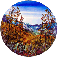 """""""Far Mountains Fall"""" by Vicky Russell, 22"""""""