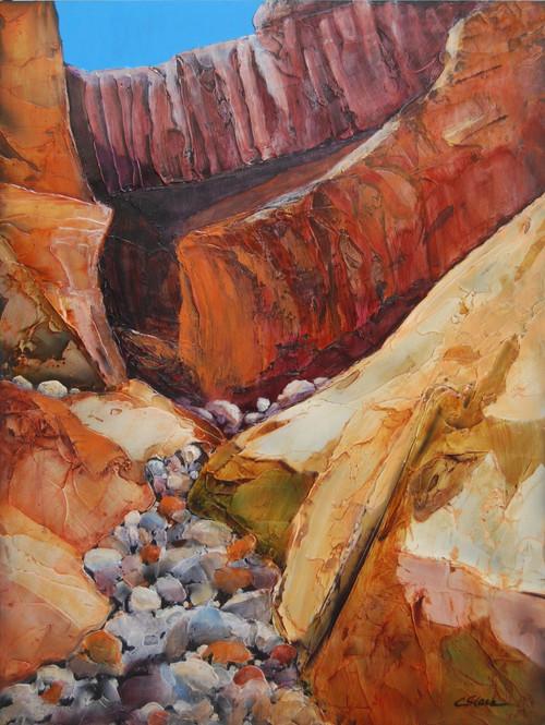 """""""Canyon Secrets"""" by Connie Slack, 24x18"""