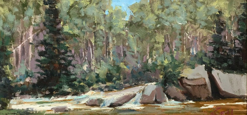 """Glacier Creek, RMNP"" by George Coll, 9x18"