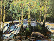 """Spring Comes to Glacier Creek"" by George Coll, 14x18"