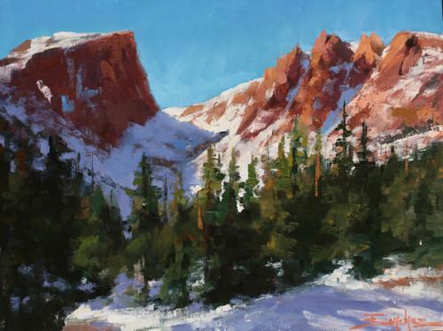 """Spring Thaw At Dream Lake"" by Terri Sanchez 12x9"