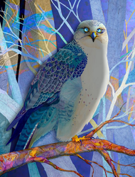 """Gyrfalcon #2"" by Brooke Connor"