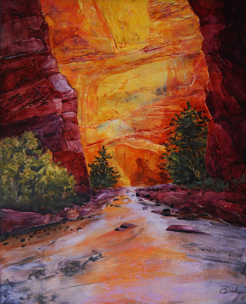 """""""Canyon Light"""" by Connie Slack, 24x30"""