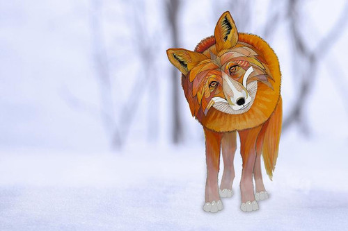"""Fox in Snow"" by Brooke Connor"