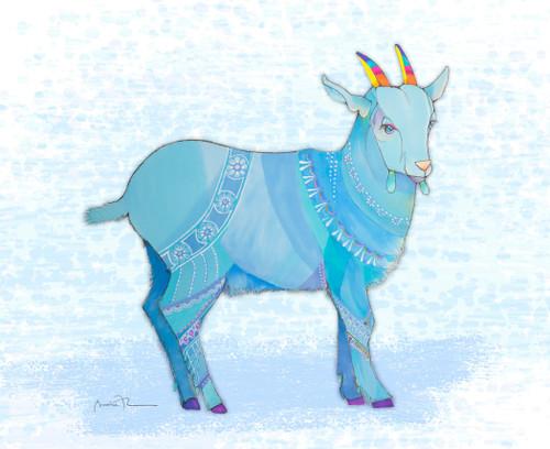 Blue Goat in a Blue Coat