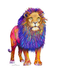 Lion the Eighth. Regal royal king of the jungle.