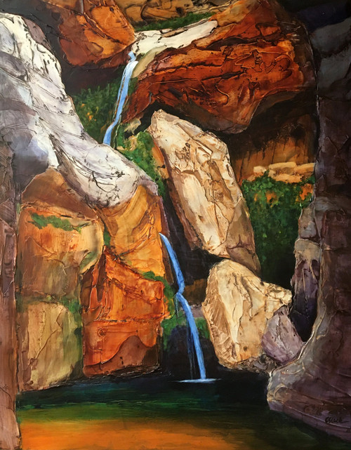 """Elves Canyon"" by Connie Slack, 24x30"