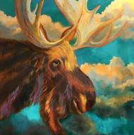 """""""Bullwinkle"""" by Julianne Miller, 48x48"""