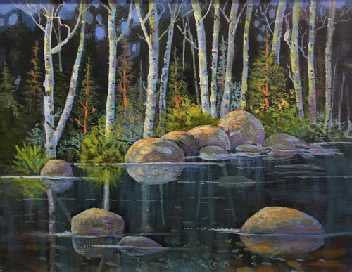 """Mirror"" by Heather Coen 15x18"
