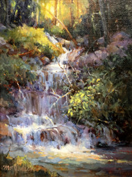 """Cascade, Rocky Mountain National Park"" by Margaret Jensen 9x12"