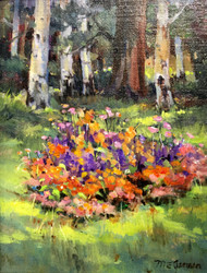 """Garden in Estes"" by Margaret Jensen 8x10"