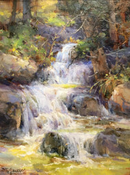 """Glacier Creek in Spring"" by Margaret Jensen 9x12"
