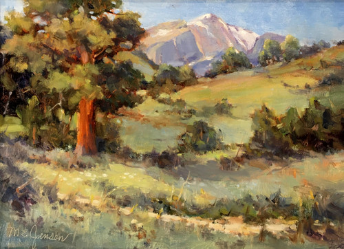 """At Hallowell Park, Rocky Mountain National Park"" by Margaret Jensen 9x12"