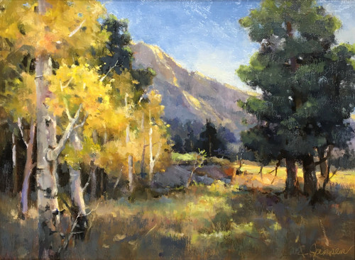 """Morning Has Broken, Rocky Mountain National Park"" by Margaret Jensen 9x12"""