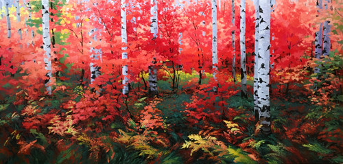 """Ruby Red Autumn"" Stanislav Sidorov 30x60"