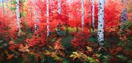 """Ruby Red Autumn"" Stanislav Sidorov 30x60"