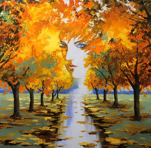 """Autumn Goddess"" by Stanislav Sidorov 30x30"