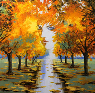 """Autumn Goddess"" by Stanislav Sidorov 30x30"