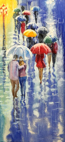 """Romantic Umbrellas"" by Stanislav Sidorov 12x24"