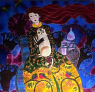 """Warm Winter Companion"" by Yelena Sidorova 30x30"