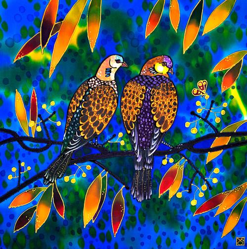 """""""Amiable Pair"""" by Yelena Sidorova 20x20"""