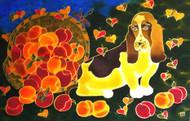 """""""Bassett and Colorado Peaches"""" by Yelena Sidorova 20x30"""