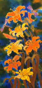 """Tiger Lilies"" by Yelena Sidorova 12x24"