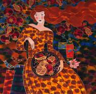 """""""Pomegranates - Harvest Time"""" by Yelena Sidorova 30x30"""