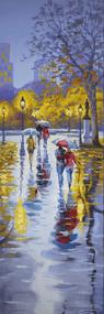 """Rain in Paris Montmartre"" Stanislav Sidorov 30x10"