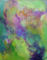 """Float""  by Laura Brenton.  Acrylic, 24x30 inches.  Gallery wrap."
