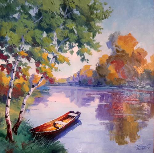 'Solitary Pond' Stanislav Sidorov 24x24