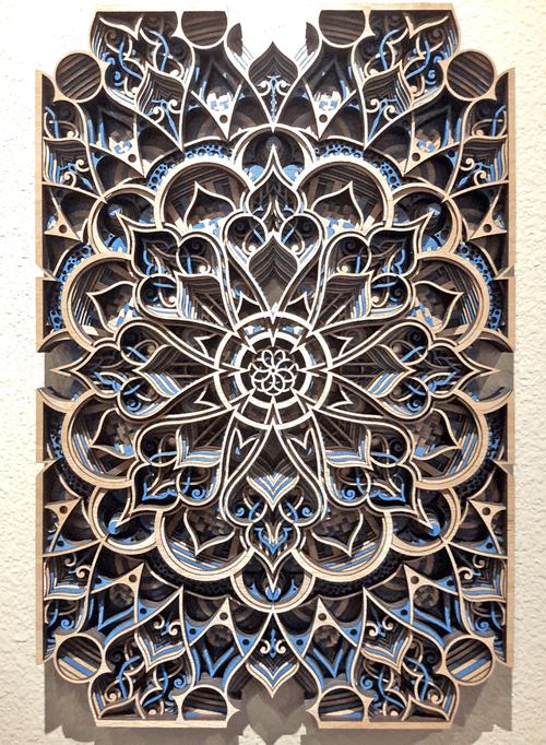 "'Ansari Blue' by Philip Roberts, 24""x16"""