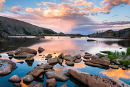 """Lake Husted Sunset"" Photograph by Colorado photographer James Frank. August, evening, Rocky Mountain National Park, Colorado, USA."