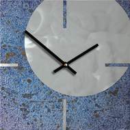 """Circle & Square"" clock by Robert Rickard in ""Evening Sky""."