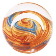 """Jupiter"" glass paperweight handmade by Glass Eye Studio."
