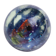 """God's Eye Nebula"" glass paperweight handmade by Glass Eye Studio."